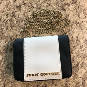Black and White Juicy Couture Mini Purse